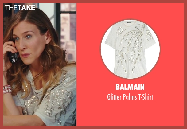 Balmain gray t-shirt from Sex and the City 2 seen with Sarah Jessica Parker (Carrie Bradshaw)