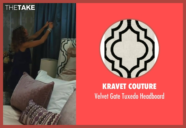 Kravet Couture headboard from Sex and the City 2 seen with Sarah Jessica Parker (Carrie Bradshaw)
