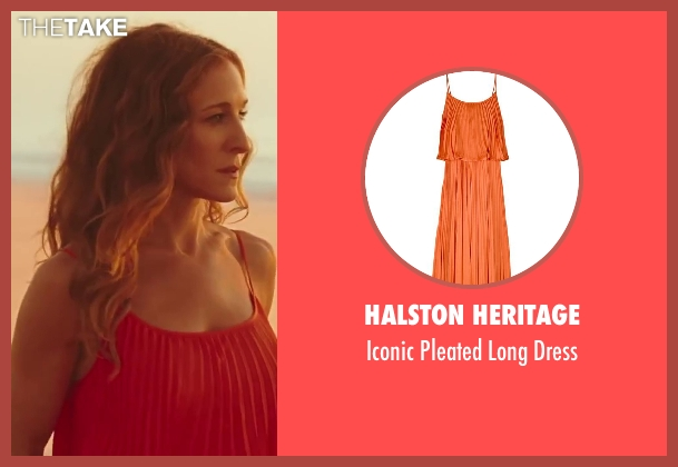 Halston Heritage orange dress from Sex and the City 2 seen with Sarah Jessica Parker (Carrie Bradshaw)