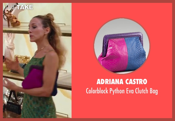 Adriana Castro pink bag from Sex and the City 2 seen with Sarah Jessica Parker (Carrie Bradshaw)
