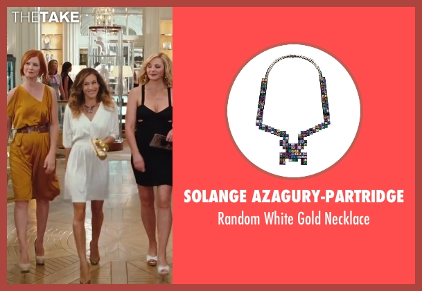 Solange Azagury-Partridge purple necklace from Sex and the City 2 seen with Sarah Jessica Parker (Carrie Bradshaw)
