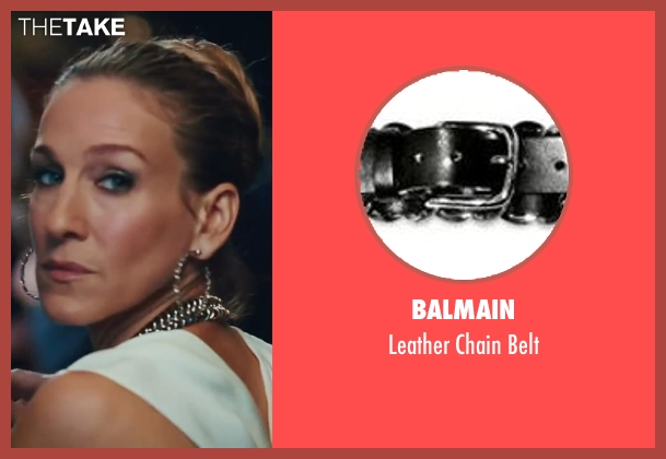 Balmain silver belt from Sex and the City 2 seen with Sarah Jessica Parker (Carrie Bradshaw)