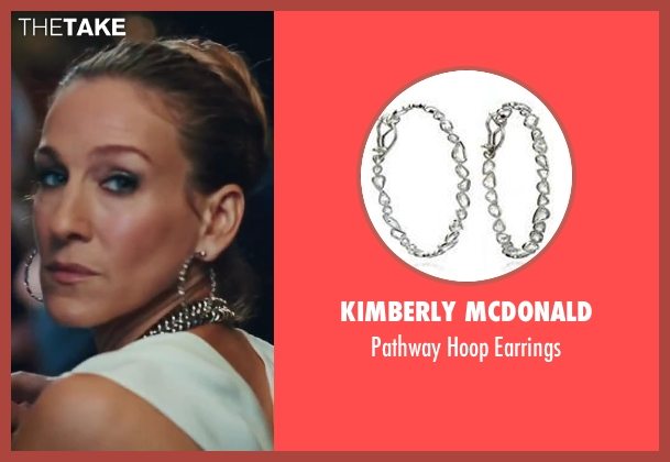 Kimberly McDonald silver earrings from Sex and the City 2 seen with Sarah Jessica Parker (Carrie Bradshaw)