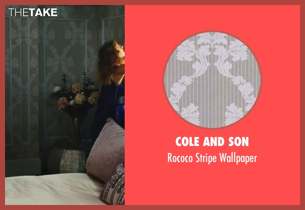 Cole and Son wallpaper from Sex and the City 2 seen with Sarah Jessica Parker (Carrie Bradshaw)