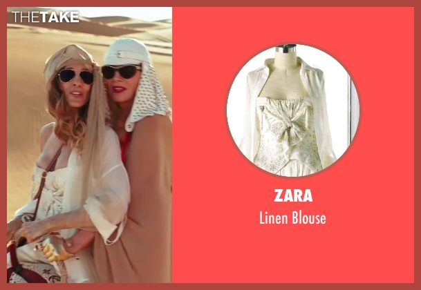Zara white blouse from Sex and the City 2 seen with Sarah Jessica Parker (Carrie Bradshaw)