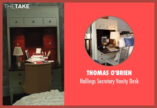 Thomas O'Brien white desk from Sex and the City 2 seen with Sarah Jessica Parker (Carrie Bradshaw)