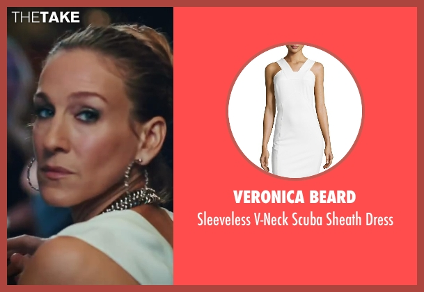 Veronica Beard white dress from Sex and the City 2 seen with Sarah Jessica Parker (Carrie Bradshaw)