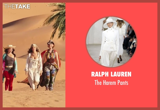Ralph Lauren white pants from Sex and the City 2 seen with Sarah Jessica Parker (Carrie Bradshaw)