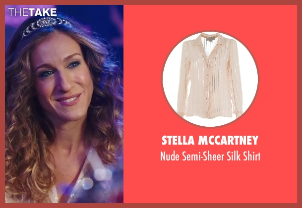 Stella McCartney white shirt from Sex and the City 2 seen with Sarah Jessica Parker (Carrie Bradshaw)
