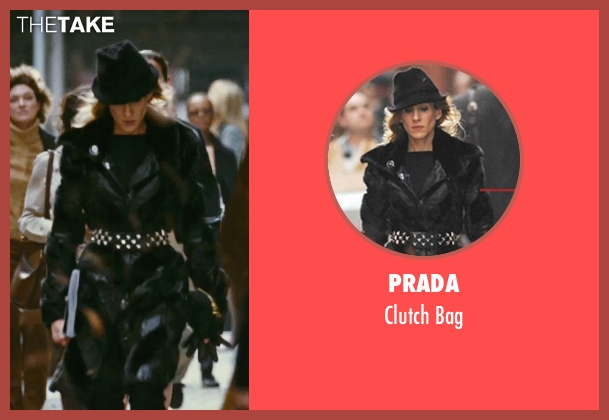 Prada black bag from Sex and the City seen with Sarah Jessica Parker (Carrie Bradshaw)