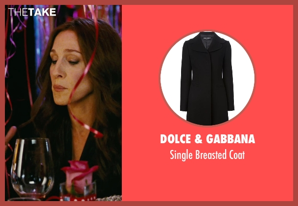 Dolce & Gabbana black coat from Sex and the City seen with Sarah Jessica Parker (Carrie Bradshaw)