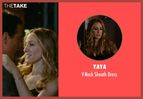 YaYa black dress from Sex and the City seen with Sarah Jessica Parker (Carrie Bradshaw)