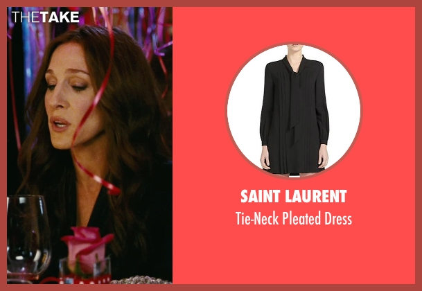 Saint Laurent black dress from Sex and the City seen with Sarah Jessica Parker (Carrie Bradshaw)