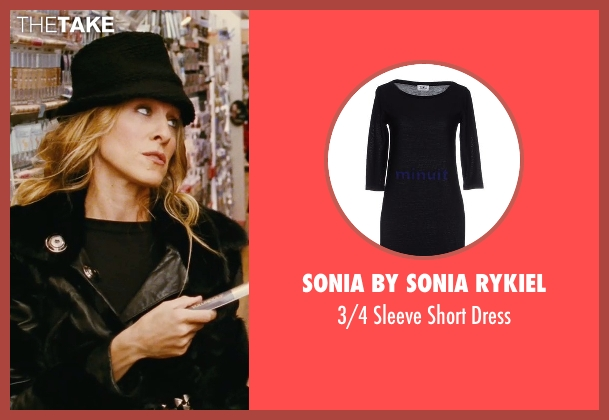 Sonia By Sonia Rykiel black dress from Sex and the City seen with Sarah Jessica Parker (Carrie Bradshaw)