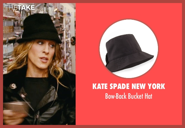 Kate Spade New York black hat from Sex and the City seen with Sarah Jessica Parker (Carrie Bradshaw)