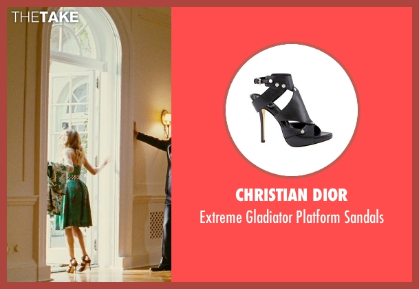 Christian Dior black sandals from Sex and the City seen with Sarah Jessica Parker (Carrie Bradshaw)