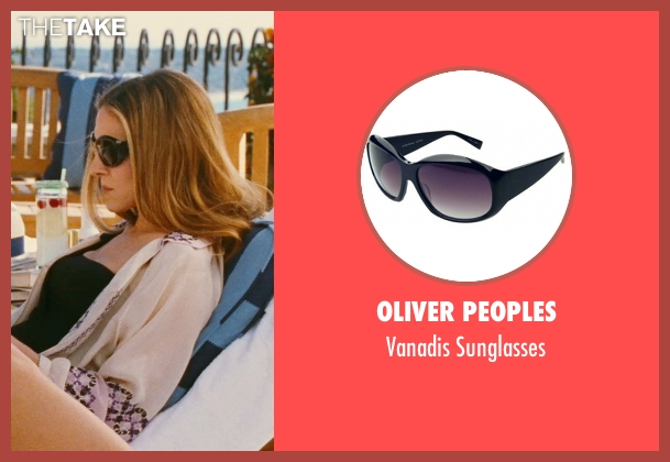 Oliver Peoples black sunglasses from Sex and the City seen with Sarah Jessica Parker (Carrie Bradshaw)