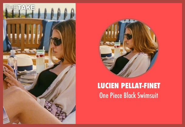 Lucien Pellat-Finet black swimsuit from Sex and the City seen with Sarah Jessica Parker (Carrie Bradshaw)