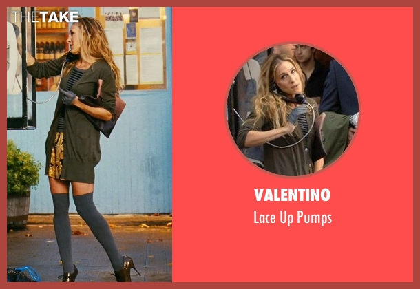 Valentino brown pumps from Sex and the City seen with Sarah Jessica Parker (Carrie Bradshaw)