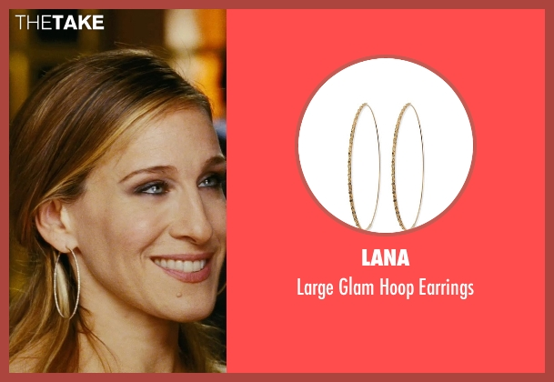 Lana gold earrings from Sex and the City seen with Sarah Jessica Parker (Carrie Bradshaw)