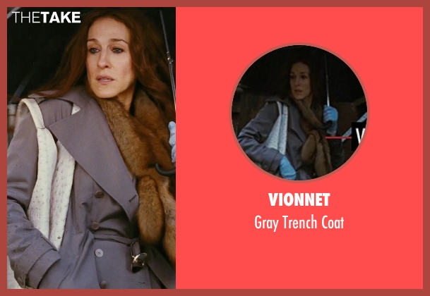 Vionnet gray coat from Sex and the City seen with Sarah Jessica Parker (Carrie Bradshaw)