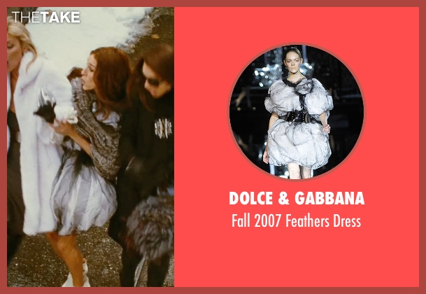 Dolce & Gabbana gray dress from Sex and the City seen with Sarah Jessica Parker (Carrie Bradshaw)