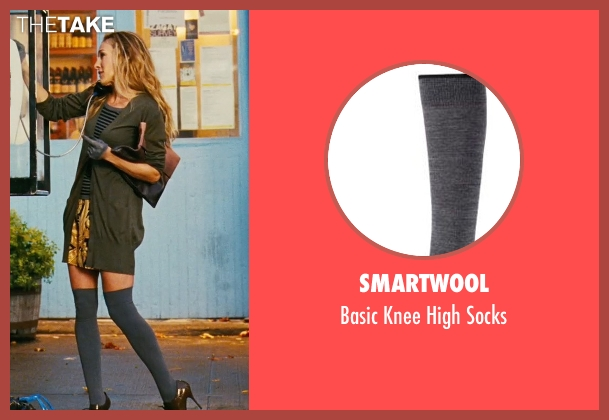 Smartwool gray socks from Sex and the City seen with Sarah Jessica Parker (Carrie Bradshaw)