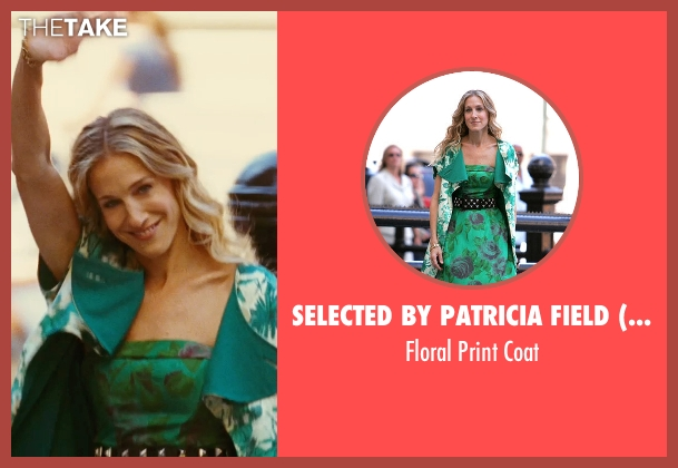 Selected By Patricia Field (Costume Designer) green coat from Sex and the City seen with Sarah Jessica Parker (Carrie Bradshaw)
