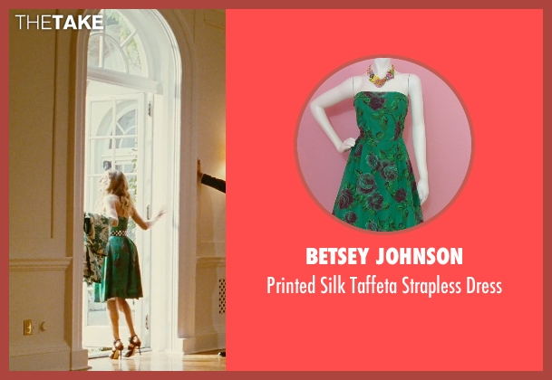 Betsey Johnson green dress from Sex and the City seen with Sarah Jessica Parker (Carrie Bradshaw)