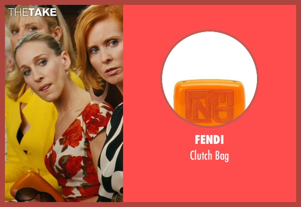 Fendi orange bag from Sex and the City seen with Sarah Jessica Parker (Carrie Bradshaw)