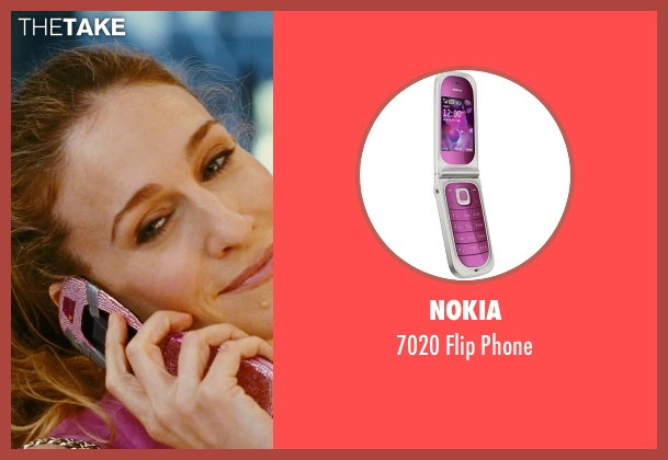 Nokia phone from Sex and the City seen with Sarah Jessica Parker (Carrie Bradshaw)