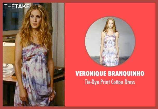 Veronique Branquinho purple dress from Sex and the City seen with Sarah Jessica Parker (Carrie Bradshaw)