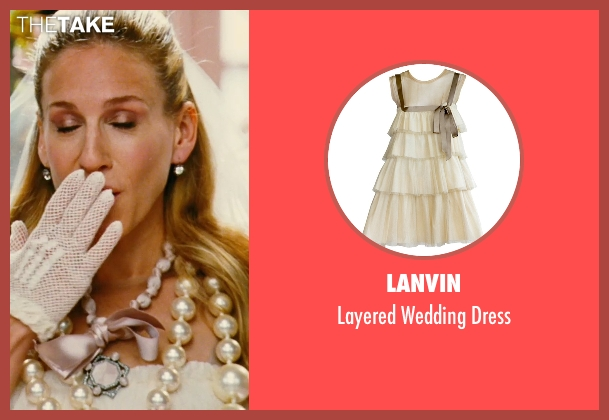 Lanvin white dress from Sex and the City seen with Sarah Jessica Parker (Carrie Bradshaw)
