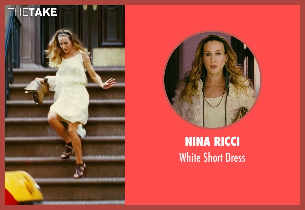 Nina Ricci white dress from Sex and the City seen with Sarah Jessica Parker (Carrie Bradshaw)