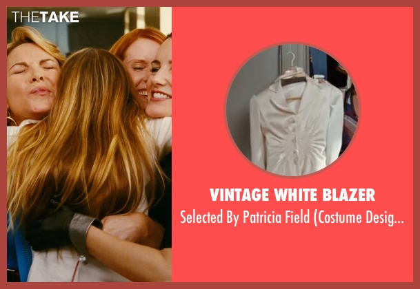 Vintage White Blazer white field from Sex and the City seen with Sarah Jessica Parker (Carrie Bradshaw)