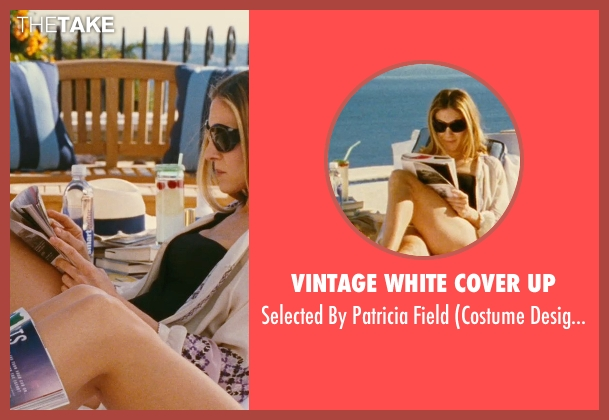 Vintage White Cover Up white field from Sex and the City seen with Sarah Jessica Parker (Carrie Bradshaw)