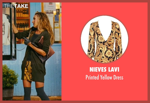 Nieves Lavi yellow dress from Sex and the City seen with Sarah Jessica Parker (Carrie Bradshaw)