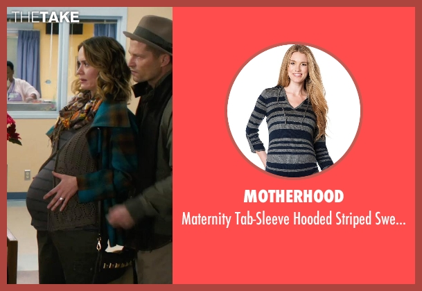 Motherhood gray sweater from New Year's Eve seen with Sarah Paulson (Grace Schwab)