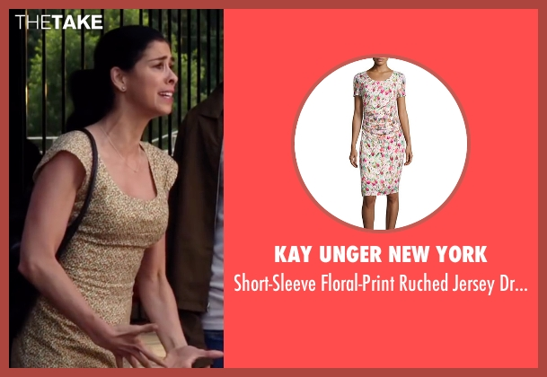 Kay Unger New York dress from Ashby seen with Sarah Silverman (June Wallis)