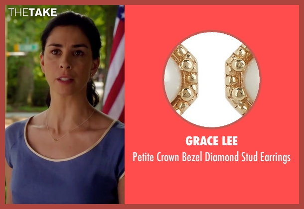 Grace Lee gold earrings from Ashby seen with Sarah Silverman (June Wallis)