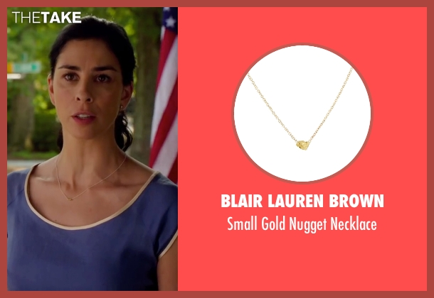 Blair Lauren Brown gold necklace from Ashby seen with Sarah Silverman (June Wallis)