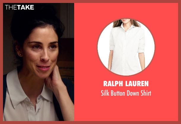Ralph Lauren white shirt from Ashby seen with Sarah Silverman (June Wallis)
