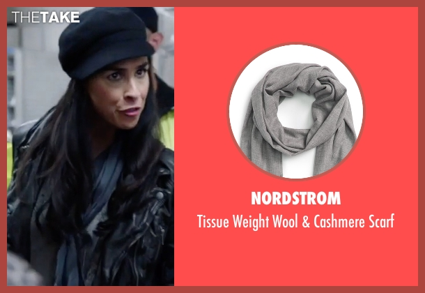 Nordstrom  gray scarf from Popstar: Never Stop Never Stopping seen with Sarah Silverman (Unknown Character)