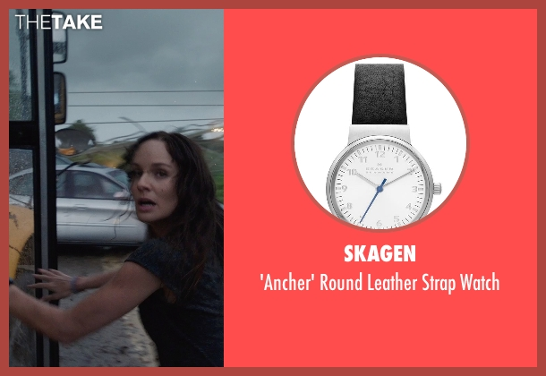 Skagen black watch from Into the Storm seen with Sarah Wayne Callies (Allison Stone)