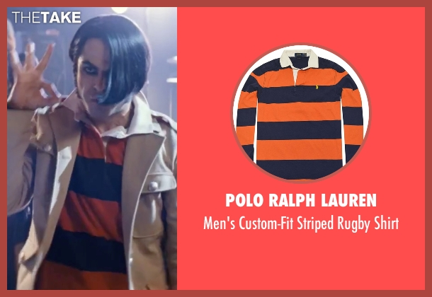 Polo Ralph Lauren orange shirt from Scott Pilgrim Vs. The World seen with Satya Bhabha (Matthew Patel)