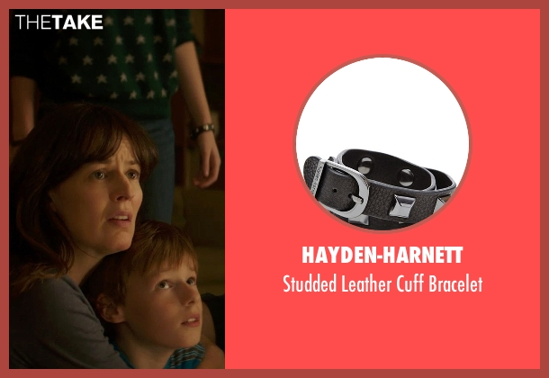 Hayden-Harnett black bracelet from Poltergeist seen with Saxon Sharbino (Kendra Bowen)
