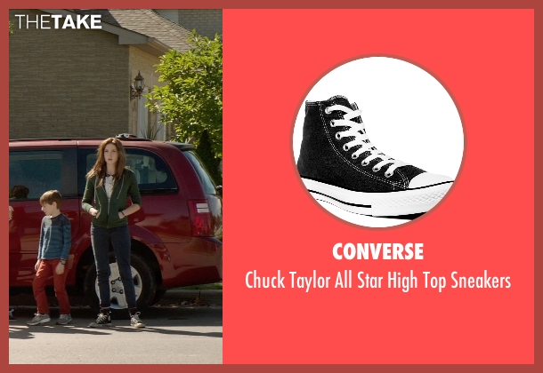 Converse black sneakers from Poltergeist seen with Saxon Sharbino (Kendra Bowen)