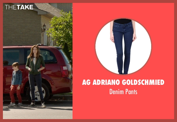 AG Adriano Goldschmied blue pants from Poltergeist seen with Saxon Sharbino (Kendra Bowen)