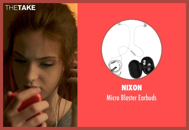 Nixon earbuds from Poltergeist seen with Saxon Sharbino (Kendra Bowen)