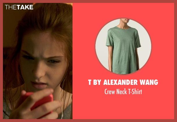 T by Alexander Wang green t-shirt from Poltergeist seen with Saxon Sharbino (Kendra Bowen)